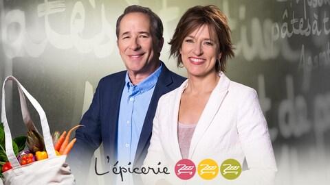 Denis Gagné et Johane Despins, animateurs de L'épicerie