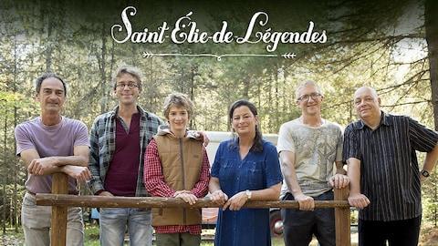 Fred Pellerin et les personnages de son émission Saint-Élie-de-Légendes
