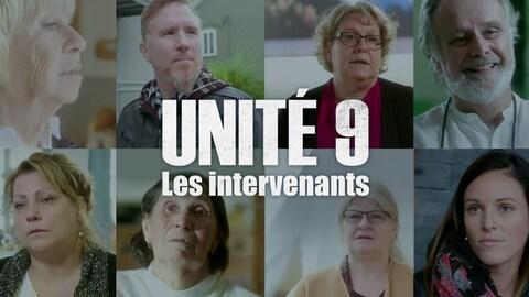 Unité 9 - Les intervenants