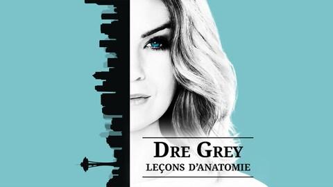 L'actrice Ellen Pompeo est la tête d'affiche de cette série. Le logo pour la 13e saison  est un dessin du centre-ville de Seattle à la verticale (à gauche)  et de l'autre une photo en noir et blanc de la moitié du visage d'Ellen Pompeo. Au milieu de l'affiche le titre de l'émission de couleur noire, le tout sur un fond turquoise.