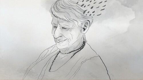 Un croquis de Solange Leduc, la mère de Marie-France Bazzo