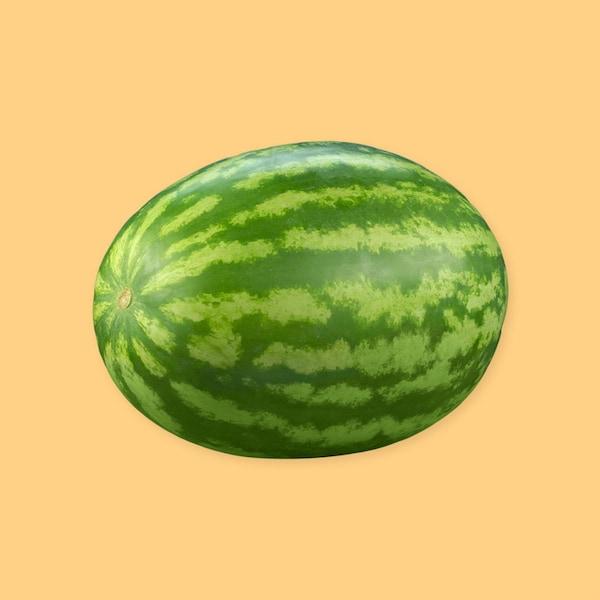 Un melon d'eau entier.