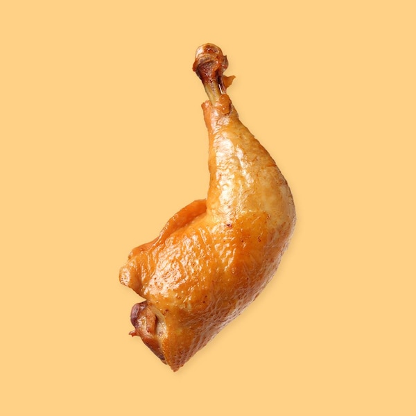 Une cuisse de poulet.