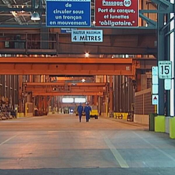 L'Aluminerie de Bécancour, vue de l'intérieur.