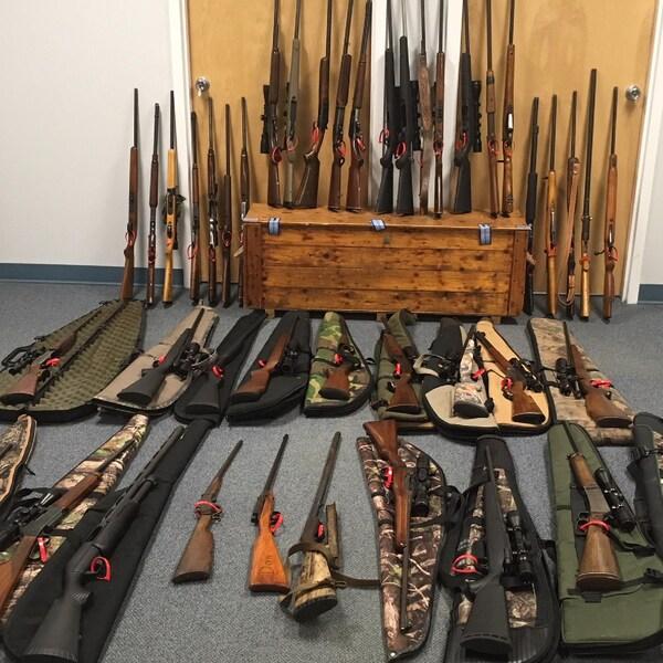 Plusieurs carabines