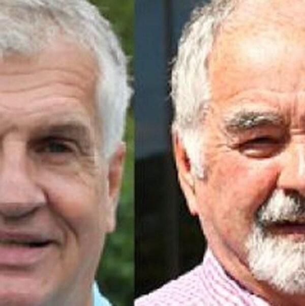 Photos duconservateur Barry Ogden et de son adversaire libéral Gerry Lowe.