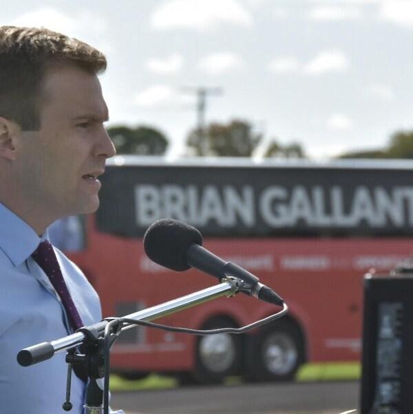 Le chef du Parti libéral du Nouveau-Brunswick, Brian Gallant