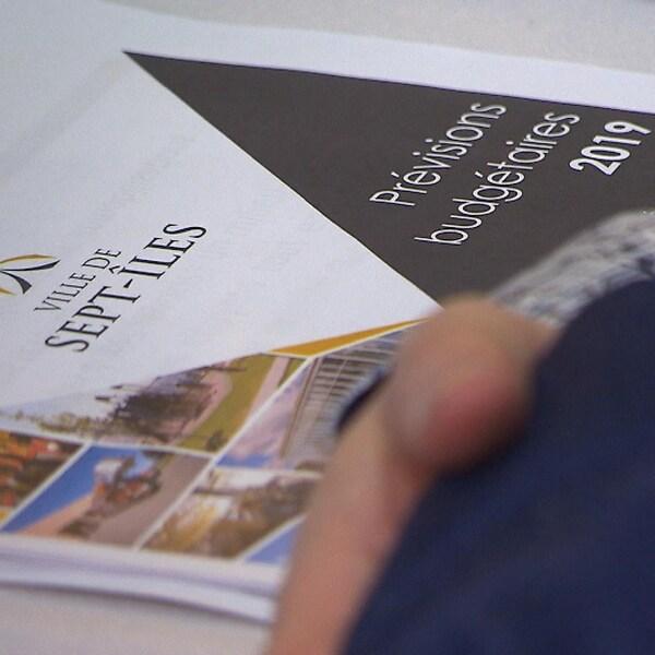 Un document expliquant le budget 2019 de Sept-Îles.