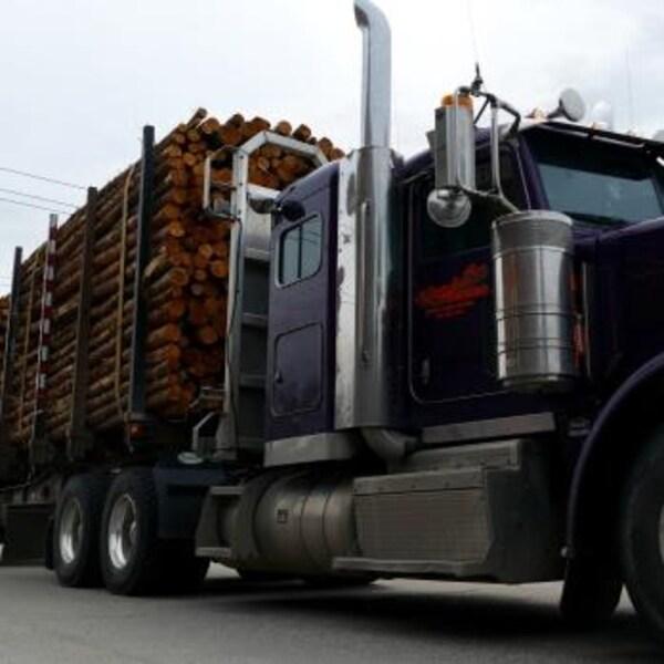 Un camion forestier