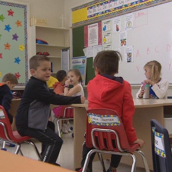Une classe d'élèves.