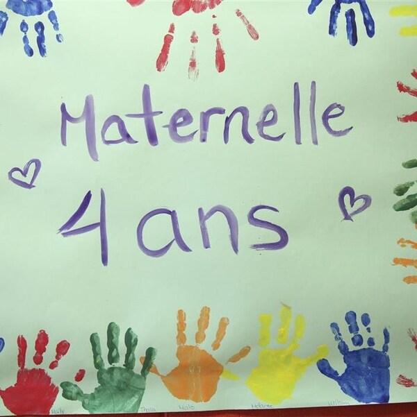 Classe de maternelle à Québec