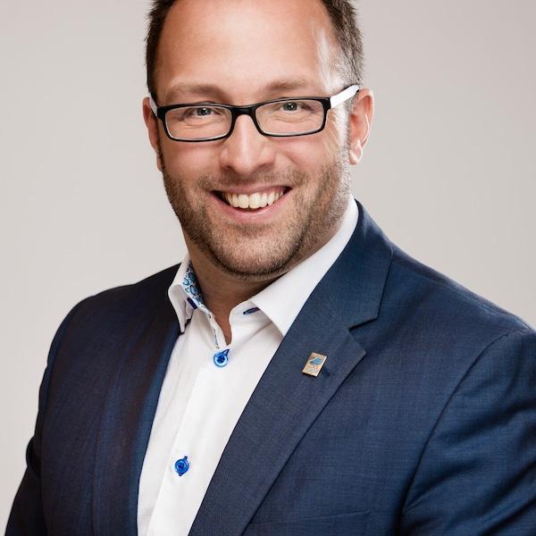 Daniel Côté, maire sortant et candidat à la mairie de Gaspé