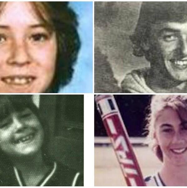 collage de 4 vieilles photos de jeunes disparus