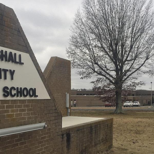L'école secondaire de Marshall County, dans l'État du Kentucky.