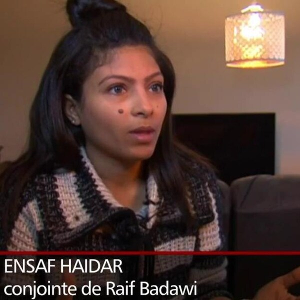 Ensaf Haidar, conjointe du blogueur Raif Badawi