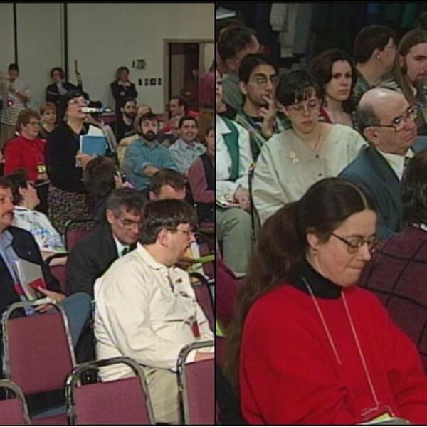 Des Fransaskois qui participent aux états généraux de 1997.