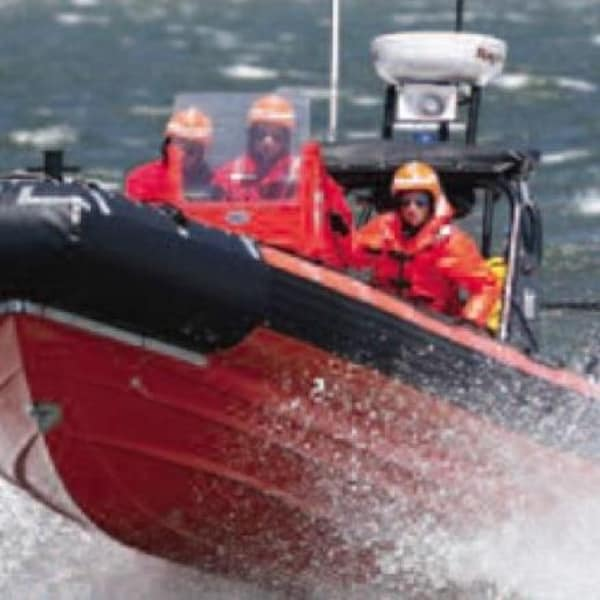 Un navire de recherche de la Garde côtière canadienne.