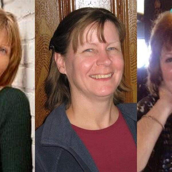 Montage photo des trois victimes