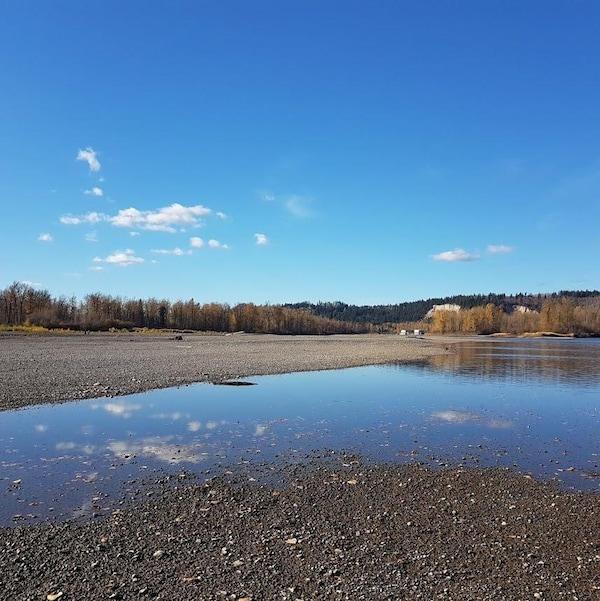 Une rivière presqu'inexistante.
