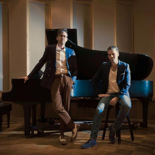Pascal Blanchet et Rodolphe Saint-Gelais au studio 2 de l'Office national du film du Canada