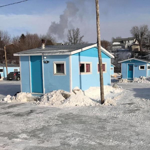 Cabanes sur la glace
