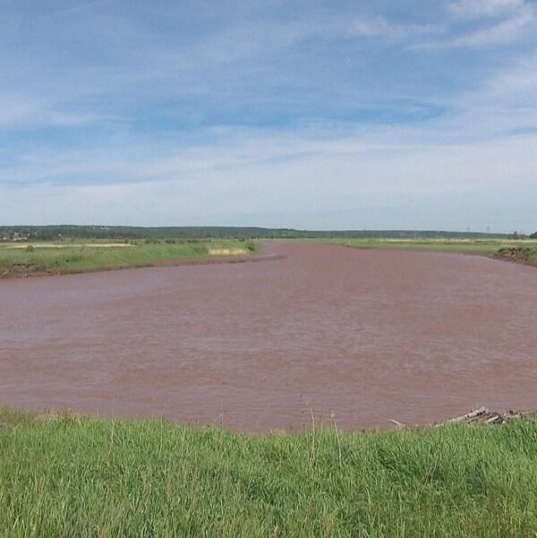 La rivière Memramcook au Nouveau-Brunswick.