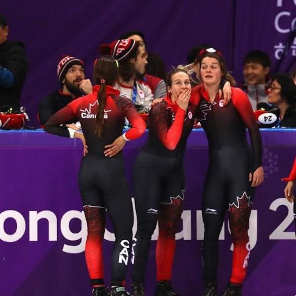 Canada disqualifié eu relais de 3000m en courte piste