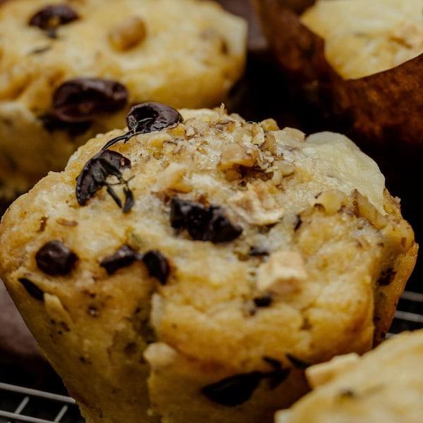 Gros plan sur les muffins.