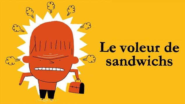 Le livre audio <i>Le voleur de sandwichs</i>.