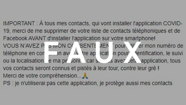 Capture d'écran d'une publication Facebook. Le mot