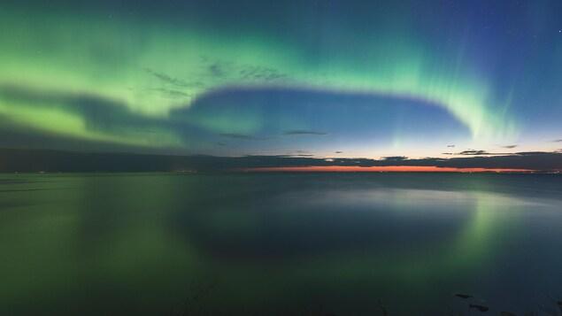 Des aurores boréales au-dessus du lac Saint-Jean