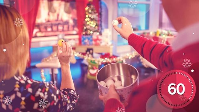Le jeu du bas de Noël à remplir occupera vos partys!