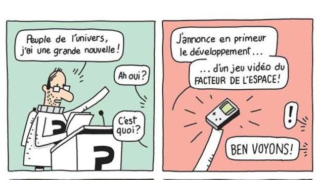 Planche de bande dessinée de Guillaume Perreault
