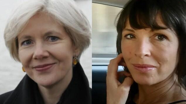Les deux écrivaines esquissent un sourire.