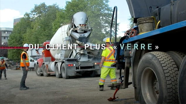 Du ciment plus « verre »