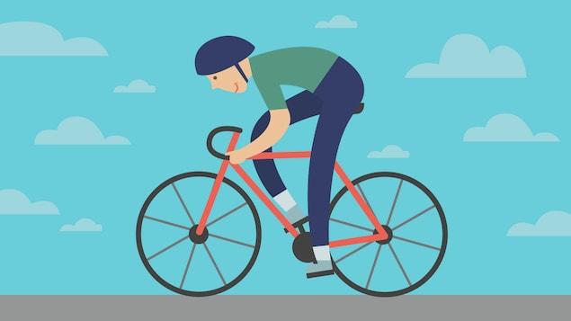 Infographie de cycliste
