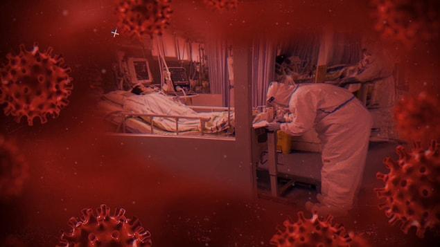 Un homme est hospitalisé dans une salle d'urgence.