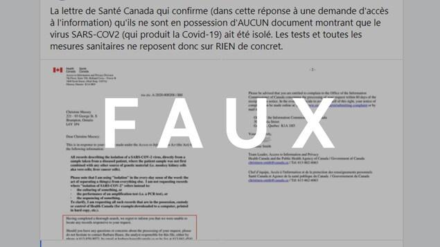 Il s'agit d'une lettre de Santé Canada.