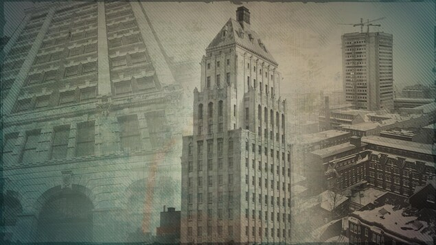 Image d'archives d'édifices en hauteur