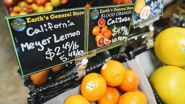 Les prix à l'épicerie risquent d'augmenter à cause de la sécheresse