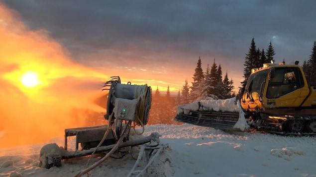 Un canon à neige