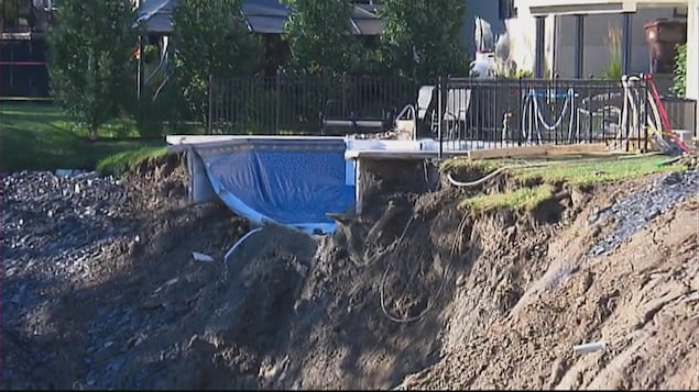 Un glissement de terrain à Sherbrooke