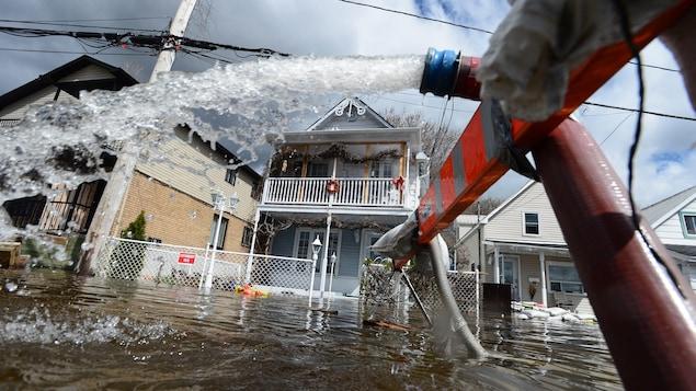 Maisons inondées à Gatineau