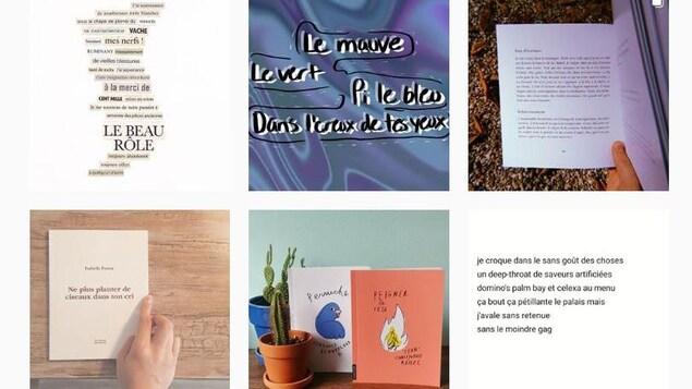Extraits de poèmes publiés sur Instagram.