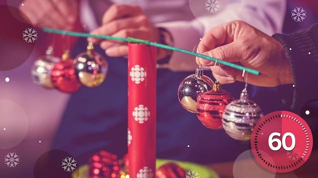 Le jeu de la balance de Noël fera lever vos partys!