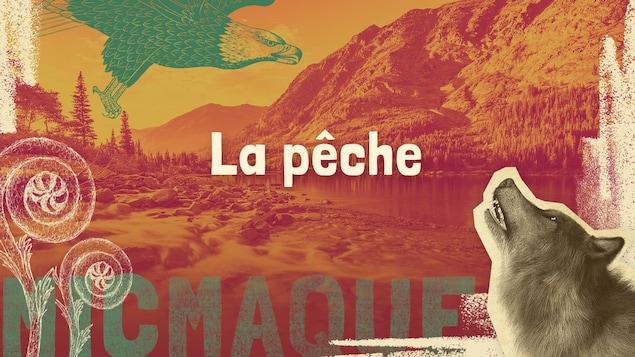 Lexique micmaque-français des mots et expressions liés à la pêche.