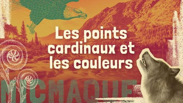 Lexique micmaque-français des mots et expressions liés aux points cardinaux et aux couleurs.