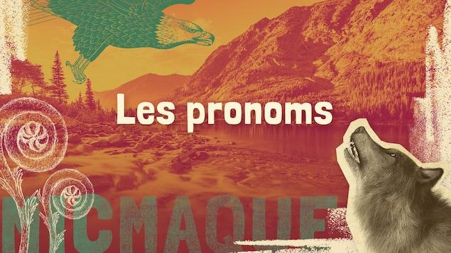 Lexique micmaque-français des mots et expressions liés aux pronoms.