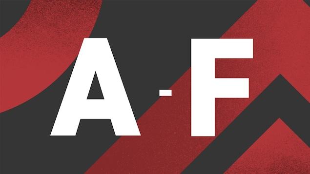 Image illustrant les lettres A à F.