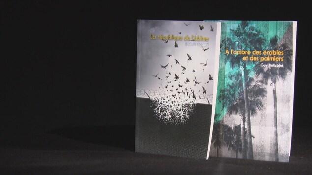 Les livres « La République de l'abîme » et « À l'ombre des érables et des palmiers ».